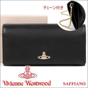 ヴィヴィアンウエストウッド Vivienne Westwood 財布 ヴィヴィアン 長財布  チェーン付き ブラック 321403 OPIO SAFFIANO BLACK iget