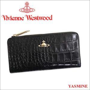 ヴィヴィアンウエストウッド 財布 ヴィヴィアン Vivienne Westwood L字ファスナー長財布 レディース メンズ ブラック 10042V YASMINE BLACK iget