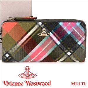 ヴィヴィアンウエストウッド 財布 ヴィヴィアン Vivienne Westwood L字ファスナー長財布 レディース メンズ チェック 10042V DERBY MULTI 17AW iget