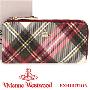 ヴィヴィアンウエストウッド 財布 ヴィヴィアン Vivienne Westwood L字ファスナー長財布 レディース メンズ チェック 10042V DERBY EXHIBITION 17AW iget