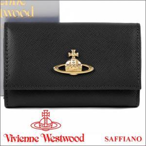 ヴィヴィアン 6連キーケース ヴィヴィアンウエストウッド キーホルダー Vivienne Westwood 720V SAFFIANO BLACK iget