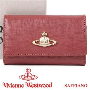 ヴィヴィアンウエストウッド キーケース Vivienne Westwood ヴィヴィアン 6連キーケース レディース レンガ色 720V SAFFIANO PINK 17AW iget
