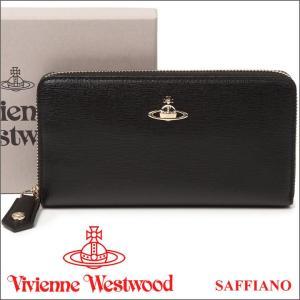 ヴィヴィアンウエストウッド 長財布 ヴィヴィアン Vivienne Westwood ラウンドファスナー財布 ブラック 5140V SAFFIANO BLACK 17AW iget