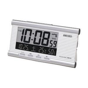セイコークロック[SEIKO CLOCK] 電波クロック置き時計(目覚まし時計) デジタル温湿度表示つき SQ659W|iget