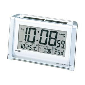 セイコークロック[SEIKO CLOCK] 電波クロック置き時計(目覚まし時計) デジタルハイブリッドソーラー SQ672S|iget