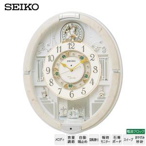 電波 掛け時計 からくり メロディ RE576A セイコークロック ウエーブシンフォニー 電波時計 メロディ スワロフスキー からくり お取り寄せ 37%OFF iget
