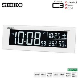 セイコー SEIKO DL305W 電波クロック デジタル 目覚まし 時計 白色 LED 温度 湿度 カレンダー USBポート 30%OFF お取り寄せ|iget