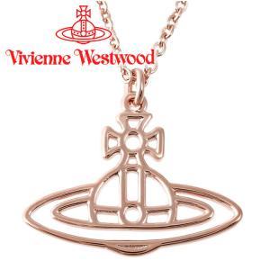 ヴィヴィアンウエストウッド ネックレス Vivienne Westwood ヴィヴィアン シンラインショートフラットオーブペンダント ピンクゴールド iget