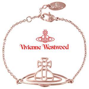ヴィヴィアンウエストウッド ブレスレット Vivienne Westwood ヴィヴィアン シンラインフラットオーブブレスレット ピンクゴールド iget