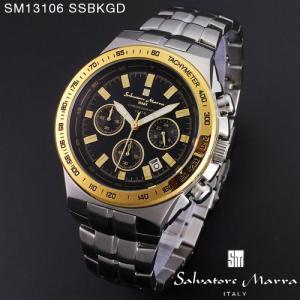 腕時計 メンズ 男性 サルバトーレ マーラ 腕時計 Salvatore Marra 時計 SM13106 SSBKGD ブラック ステン クロノグラフ カレンダー 【お取り寄せ】 iget