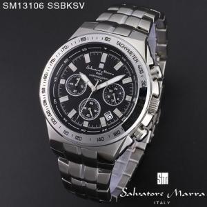腕時計 メンズ 男性 サルバトーレ マーラ 腕時計 Salvatore Marra 時計 SM13106 SSBKSV ブラック ステン クロノグラフ カレンダー 【お取り寄せ】 iget