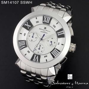 腕時計 メンズ 男性 サルバトーレ マーラ 腕時計 Salvatore Marra 時計 SM14107 SSWH ホワイト ステン クロノグラフ 【お取り寄せ】 iget