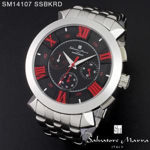 腕時計 メンズ 男性 サルバトーレ マーラ 腕時計 Salvatore Marra 時計 SM14107 SSBKRD ブラック ステン クロノグラフ 【お取り寄せ】 iget