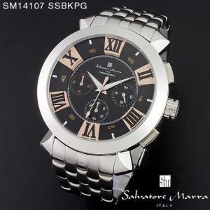 腕時計 メンズ 男性 サルバトーレ マーラ 腕時計 Salvatore Marra 時計 SM14107 SSBKPG ブラック ステン クロノグラフ 【お取り寄せ】 iget