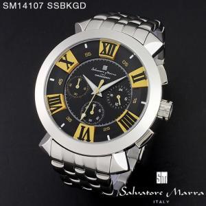 腕時計 メンズ 男性 サルバトーレ マーラ 腕時計 Salvatore Marra 時計 SM14107 SSBKGD ブラック ステン クロノグラフ 【お取り寄せ】 iget