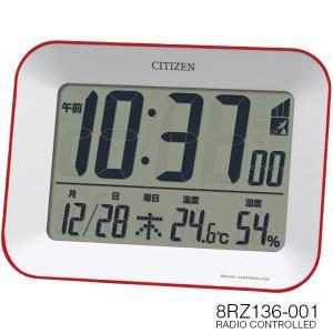 電波時計 置き時計 目覚まし時計 クロック カレンダー 温湿度 デジタル ビューサイト 8RZ136-001 シチズン CITIZEN iget