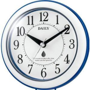 アクアパークF 4KG711DB04 クオーツ 掛け時計 置き時計 防滴 防塵 キッチン サニタリー 青 デイリー DAILY シチズン CITIZEN  【お取り寄せ】|iget