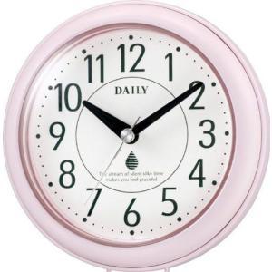 アクアパークF 4KG711DB13 クオーツ 掛け時計 置き時計 防滴 防塵 キッチン サニタリー ピンク デイリー DAILY お取り寄せ|iget
