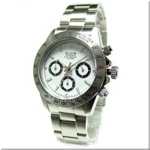 エルジン 腕時計 ELGIN FK1059S-W 白文字盤/200M防水/クロノグラフ/ダイバー使用 iget