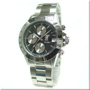 エルジン 腕時計 ELGIN FK1184S-B 200M防水・クロノグラフ機能・カレンダー付き 送料無料 iget