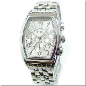 エルジン腕時計 エルジン ELGIN FK1215S 日常生活防水・クロノグラフ機能付 ホワイト文字盤 iget