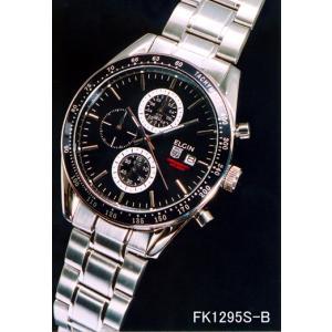 エルジン 腕時計 ELGIN FK1295S-B 1/10クロノグラフ カレンダー 200M防水 iget