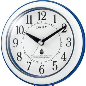 クオーツ 掛け時計 置き時計 防滴 防塵 キッチン サニタリー アクアパークN [4KG711DA04] 青 シチズン[CITIZEN]  お取り寄せ|iget