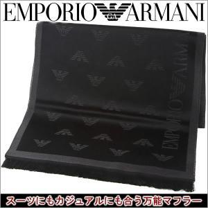 エンポリオアルマーニ マフラー EMPORIO ARMANI アルマーニ 新作マフラー ブラック×グレー 625018 6A323 00044