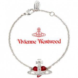 ヴィヴィアンウエストウッド Vivienne Westwood ブレスレット ヴィヴィアン ディアマンテエナメルハートブレスレット レッド iget