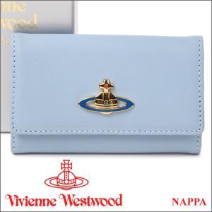 ヴィヴィアンウエストウッド キーケース Vivienne Westwood ヴィヴィアン 6連キーケース レディース メンズ ライトブルー 720V NAPPA ARTIC iget