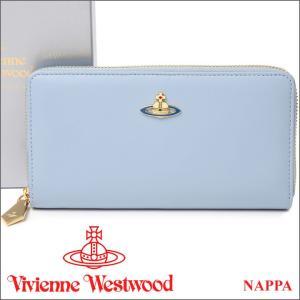 ヴィヴィアンウエストウッド 長財布 ヴィヴィアン Vivienne Westwood レディース メンズ ラウンドファスナー財布 ライトブルー 5140V NAPPA ARTIC iget