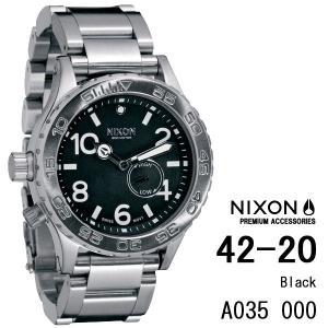 ニクソン 時計 nixon 時計 NIXON 腕時計 A035-000 A035000 THE 42-20 ブラック アナログ文字盤 iget