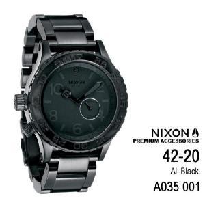 ニクソン 時計 nixon 時計 NIXON 腕時計 A035-001 A035001 THE 42-20 オールブラック アナログ文字盤 iget