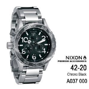 ニクソン 時計 nixon 時計 NIXON 腕時計 A037-000 A037000 Chrono THE 42-20 シルバー アナログ文字盤 iget