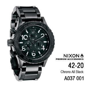 ニクソン 時計 nixon 時計 NIXON 腕時計 A037-001 A037001 Chrono THE 42-20 ブラック アナログ文字盤 iget