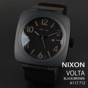 ニクソン 時計 nixon 時計 NIXON 腕時計 A117-712 A117712 VOLTA ヴォルタ ブラック/ブラウン ソーラー アナログ文字盤 iget