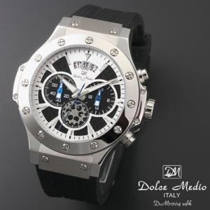 ドルチェ メディオ 腕時計 Dolce Medio 時計 DM11204 SBK ブラック  クロノグラフ カレンダー お取り寄せ|iget