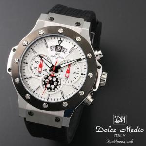 ドルチェ メディオ 腕時計 Dolce Medio 時計 DM11204 SSWH ホワイト クロノグラフ カレンダー お取り寄せ|iget