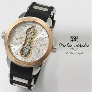 ドルチェ メディオ 腕時計 Dolce Medio 時計 DM11206 PGWH ホワイト  カレンダー お取り寄せ|iget