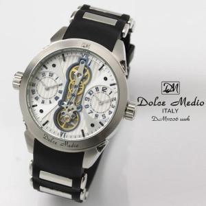 ドルチェ メディオ 腕時計 Dolce Medio 時計 DM11206 SSWH ホワイト  カレンダー お取り寄せ|iget
