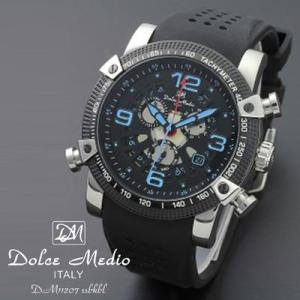 ドルチェ メディオ 腕時計 Dolce Medio 時計 DM11207 SSBKBL ブルー カレンダー お取り寄せ|iget