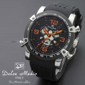 ドルチェ メディオ 腕時計 Dolce Medio 時計 DM11207 SSBKOR オレンジ カレンダー お取り寄せ|iget