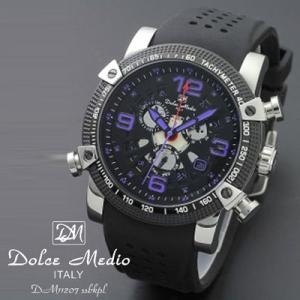 ドルチェ メディオ 腕時計 Dolce Medio 時計 DM11207 SSBKPL パープル カレンダー お取り寄せ|iget