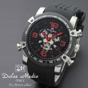 ドルチェ メディオ 腕時計 Dolce Medio 時計 DM11207 SSBKRD レッド カレンダー お取り寄せ|iget