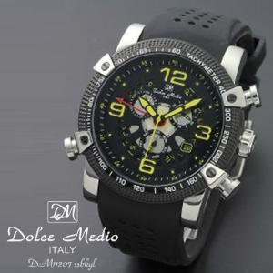 ドルチェ メディオ 腕時計 Dolce Medio 時計 DM11207 SSBKYL イエロー カレンダー お取り寄せ|iget