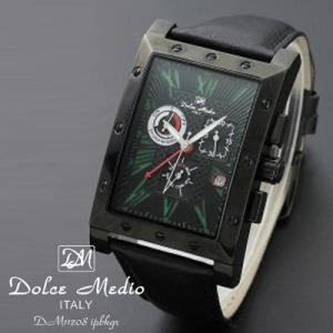 ドルチェ メディオ 腕時計 Dolce Medio 時計 DM11208 IPBKGR グリーン カレンダー お取り寄せ|iget