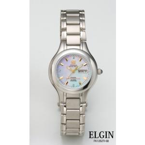 エルジン腕時計 ELGIN ソーラー FK1252TI-3D チタン カレンダー 3Pダイヤ レディース iget