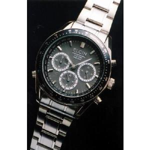 エルジン腕時計 ELGIN ソーラー電波 FK1361S-BP ステンレス クロノグラフ iget