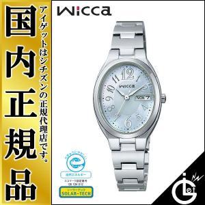 ウィッカ Wicca KH3-118-91 シチズン ソーラー エコドライブ オーバルフェイス アラビアインデックス レディース 腕時計|iget