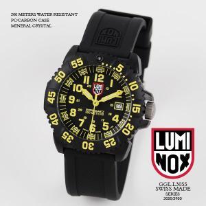 ルミノックス 時計 LUMINOX 腕時計 3055 ネイビーシールズ カラーマークシリーズ ブラック/イエロー文字盤 iget